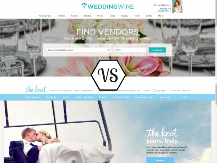 The Knot Wedding Websites.Battle Of The Wedding Websites Wedding Wire Vs The Knot