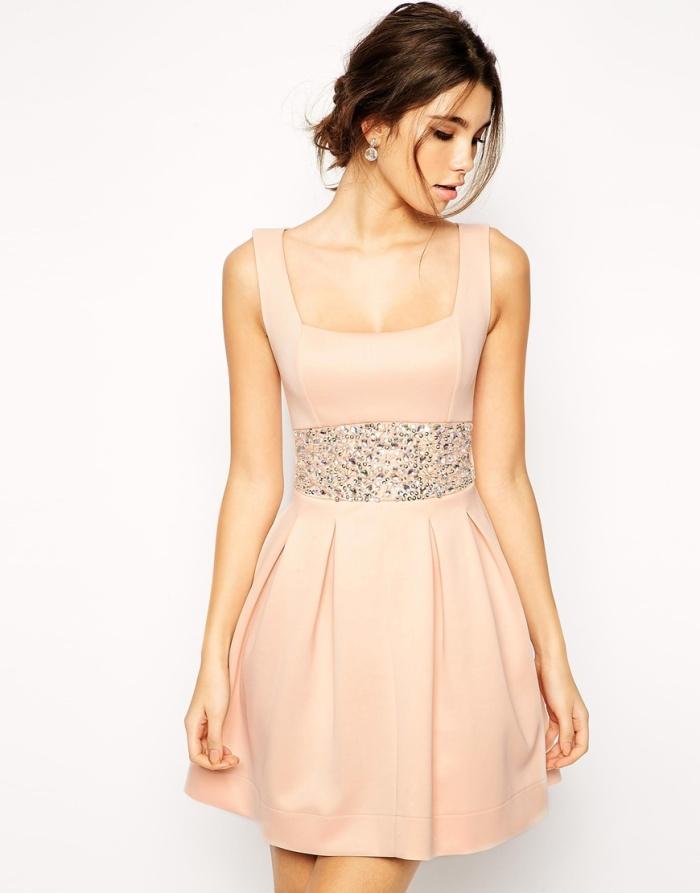 ASOS Scuba Debutante Dress with Embellished Waist